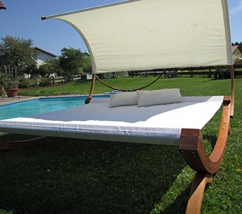 XXL Sonnenliege Doppelliege Gartenliege Hängematte Doppel Liege Gartenmöbel extrabreit für 2 Personen Modell SAONA von AS-S - 7