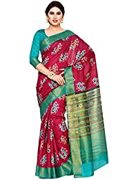 Mimosa By Kupinda Women's Tussar Silk Saree Ikkat Style (Latest Designer Sarees /Party Wear Sarees /New Collection...