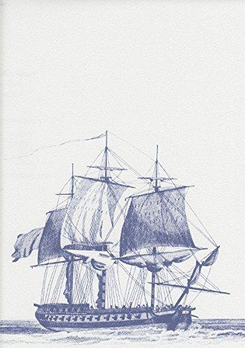 g12142-galerie-aquarius-wallpaper-blancs-vieux-navires-bleus-galions