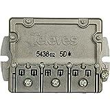 Televés 543802 Repartidor 5 direcciónes ict-cc, Acero inoxidable