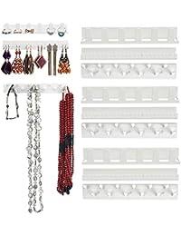 Joyero adhesivo Organizador Pendiente Colgador Soporte para colgar Joyas Estantes Adhesivos Ganchos de montaje en pared de Iswell