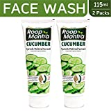 Roop Mantra Cucumber Herbal Face Wash for Men and Women with Neem and Aloe Vera, 115ml (Pack of 2)