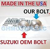 GHMotor 1999 2000 2001 2002 SUZUKI HAYABUSA GSX1300R Juego completo de tornillos de carenado de estilo OEM fabricados en Estados Unidos, plata