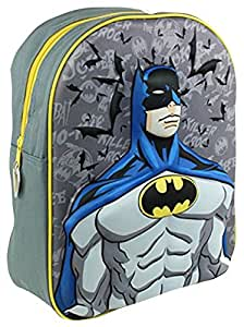 BATMAN COMICS BOYS KIDS JUNIOR 3D NURSERY SCHOOL BACKPACK RUCKSACK BAG BRAND NEW