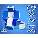 Beautyforall Brain Teaser 24-wedge Rubik's Transformable Snake Puzzle (Blue) by DIAN SHENG