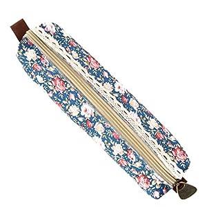 V-SOL Vintage Floral Bolsa Bolsillo Escolar de Lápiz Bolígrafo Pluma Ethnic Modelo A