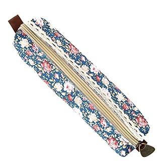 V-SOL Vintage Floral Bolsa Bolsillo Escolar de Lápiz Bolígrafo Pluma Ethnic