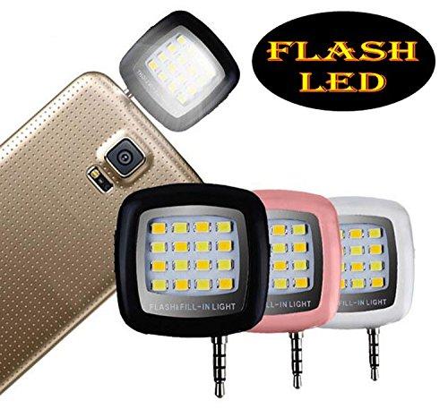 SR Global 16 led Selfie Flash Light (White) 3.5mm pin Jack Model 221295