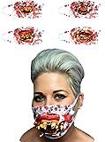Davies 1x Halloween Zombie Chirurg Medical Maske mit Goofy Zähne