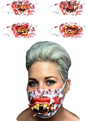 Davies 1x Halloween Zombie Chirurg Medical Maske mit -