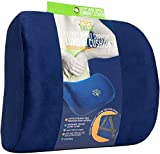 Smart Lumbar Support Back Cushion Pillow - for Lower Back Pain Relief by Liliyo 3-Strap System Gray B