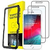 JETech Schutzfolie für iPhone 8 Plus, iPhone 7 Plus, iPhone 6s Plus und iPhone 6 Plus, Gehärtetes Glas Displayschutzfolie mit Einfaches Installationswerkzeug, 2 Stück