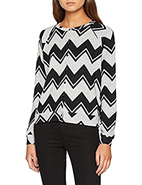 Only Onlelcos Jane L/S Zigzag Cardigan Jrs, Chaqueta Punto para Mujer