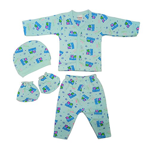 Littly Winter Baby Suit, 4 Piece Set (Blue)