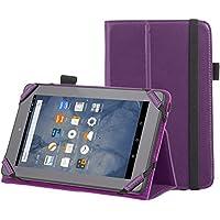 "AmazonBasics - Funda con soporte para Kindle Fire, 7"" (17,7 cm) (modelo de 2015), Morado"