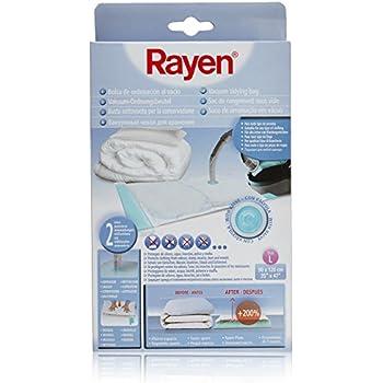 Rayen 6027 Housse sous vide - gain de place assuré - grandes dimensions 90 x 120 cm - en plastique transparent