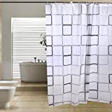 tinxs Modern Bathroom Shower Curtains Extra Long with Hooks 180 x 200 cm
