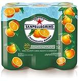 SANPELLEGRINO Bibite Gassate, ARANCIATA AMARA, Confezione di 6 lattine x 33cl