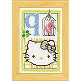 Vervaco - Kit para cuadro de punto de cruz, diseño de Hello Kitty con la letra Q, multicolor