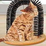 New Art Pet Cat Arch Bristles Kitten Self-Groomer Massager Scratcher Catnip Toy