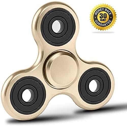 fidget spinner el nuevo juguete de moda vivah Ouse Fidget Spinner | mano de peonzas estrés + miedo Desmontaje juguete | TDAH autismo ADS | ayuda beruhigung Claridad + Concentración | Silencioso drehendes Gadget en aleación de aluminio | funda tamaño (zuckriges Oro)