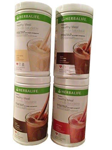 Leben Vanille Vitamine (Herbalife Austria, 4 x 550 g Formula 1 Shake, Geschmacksrichtungen nach Wunsch)