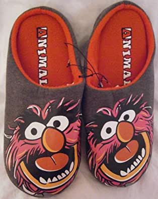 new disney muppets mens animal slip on slippers size L 10 - 11 non slip sole
