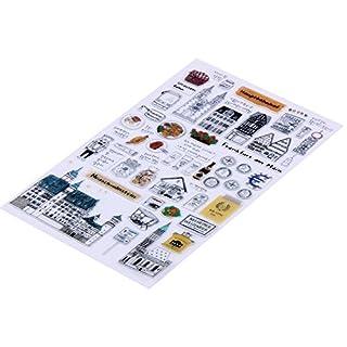 Amazingdeal365 Mit Vielfalt-teilig ! Silikonstempel Set - Blumen Kunst- Clear Stamps - Stempel transparent (8)