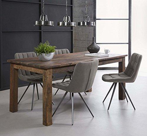 Esstisch Massivholz Konferenztisch aus recyceltem Holz 180 cm