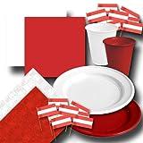 Österreich Partygeschirr Set rot-weiß-rot
