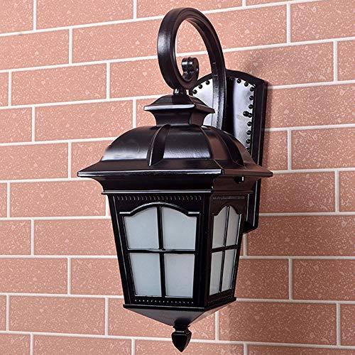 Außenwandleuchte Retro einfache wasserdichte Wandleuchte Robuste Aluminium-Gartenveranda-Leuchten E27 mit Schraubanschluss und Milchglas Geeignet für Terrassen, Korridore, Wohnzimmer und Balkone, -