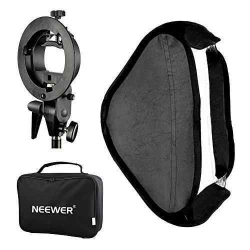 Neewer–Difusor de luz multifuncional para estudio fotográfico, 40x 40cm, con montaje para soporte de flash S-type Speedlite y funda de transporte para retrato/fotografía de productos