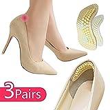 Ferse Pad zu groß Einsätze Schuhe Kissen (3Paar), taumini Heel Grips rutschsicher selbstklebend Schuh Einlegesohlen Fußpflege Displayschutzfolie, Matte Blasen für die neue Schuhe der Frauen