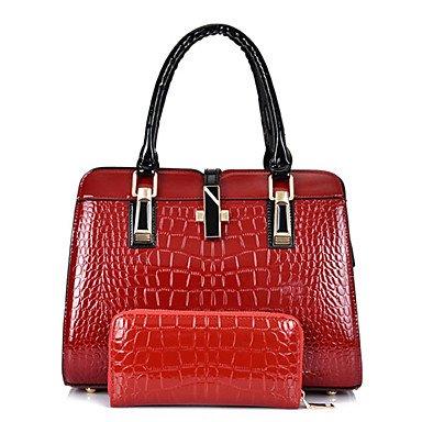 Il brevetto le donne medico in pelle borsa a tracolla / Tote - bianco / blu / rosso / nero,bianco White