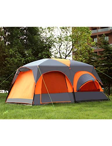 MDZH Zelt Luxus Ultra Eine Halle Zwei Schlafzimmer 6 8 10 12 Outdoor Camping Zelt 215 cm Höhe Wasserdicht Party Familie Zelt