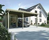 Weka Carport 607 Größe 2 kdi Carport mit XL-Geräteraum