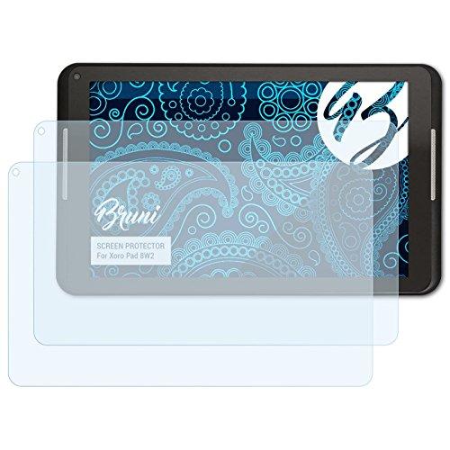 Bruni Schutzfolie für Xoro Pad 8W2 Folie, glasklare Displayschutzfolie (2X)