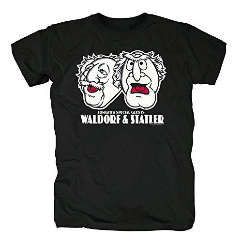 TSP The Muppets - Waldorf und Statler T-Shirt Herren S (Halloween Waldorf Statler Und Kostüme)