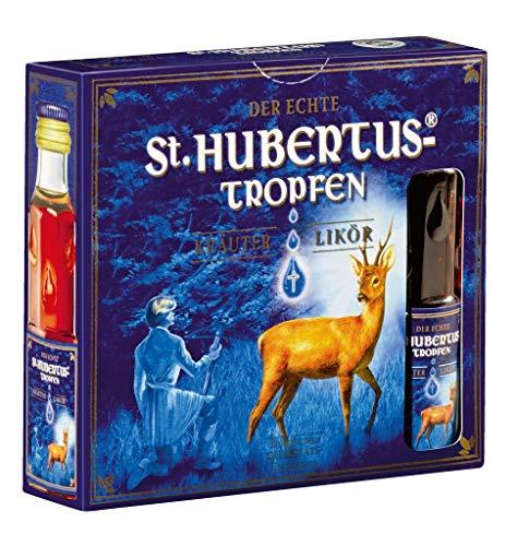 St. Hubertus-Tropfen - Kräuterlikör 30% - 4x0,02l