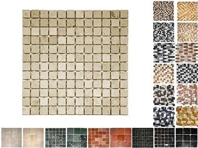 1Netz Marmor Mosaik Cream 23 von Mosaikdiscount24 auf TapetenShop