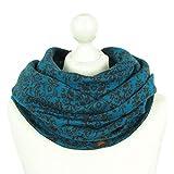 Chapati Damen Schal im Jaquard Muster aus BIO Baumwolle (Blau)