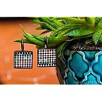 Orecchini fotografici dei Mosaici dell'Alhambra 18mm - Mosaico blu - Gioielli in resina ecologica 18mm - Regalo Festa della mamma