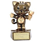 Best Cat Awards - Children,s Cat Trophy award 9 cm Free Engraving Review