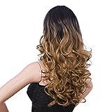 Songmics Perruque pour Femme longue ondulée Cheveux artificiels ombrés blonds WFY166...
