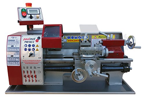 PAULIMOT Drehbank / Drehmaschine PM190-V mit frequenzgesteuertem deutschen Motor - 3-phasen-motor-spannung