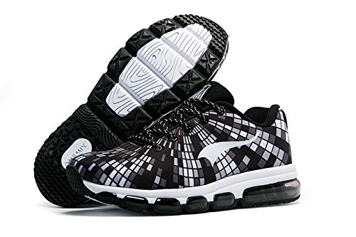 Tênis Confortável Lace Onemix perfil Homens Esportes Tênis Lazer Sapatos Branco Únicos Air E Preto UqwqXSZ4