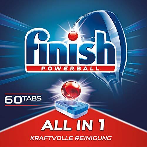 Finish All in 1, XXL Pack, Spülmaschinentabs, 60 Tabs