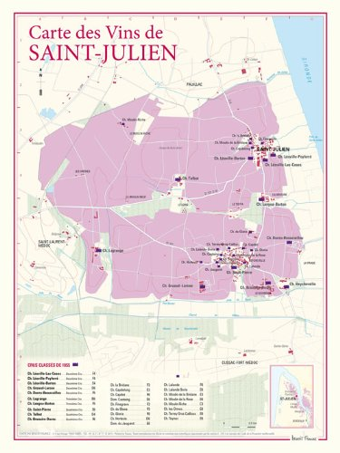Carte des vins de Saint-Julien