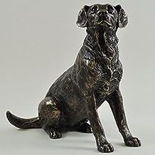Sitting Labrador Cold cast Bronze Sculpture by Harriet Glen 15cm High