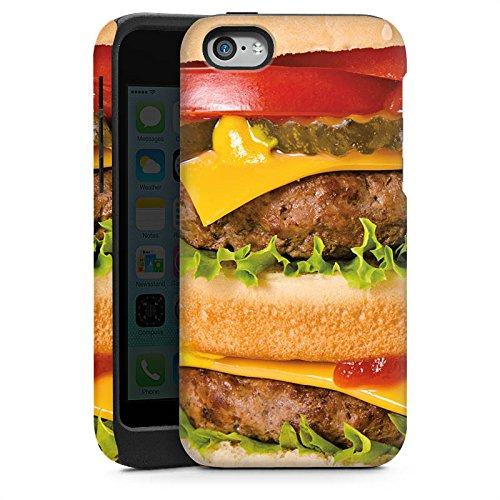 Apple iPhone 5s Housse Étui Protection Coque Hamburger hambourgeois Cheeseburger Fast Food Cas Tough brillant
